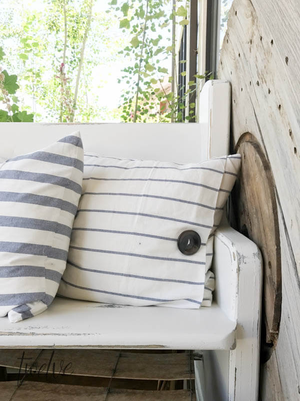Diy Ikea Tea Towel Farmhouse Pillows 4 Ways Twelve On Main