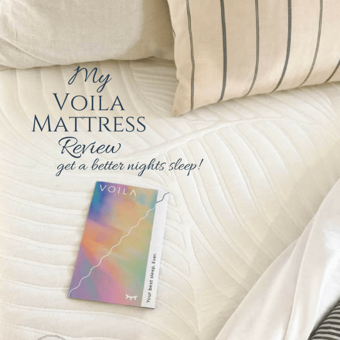 Get A Better Nights Sleep | Voila Mattress Review