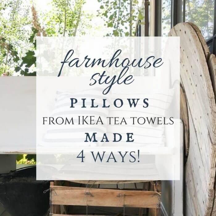 Tea Towels Pillow Talk: DIY Ikea Tea Towel Farmhouse Pillows 4 Ways!!