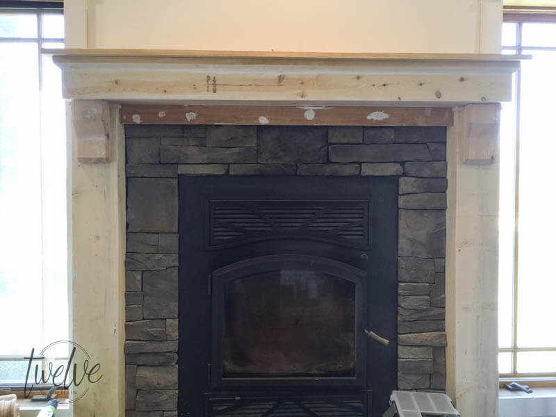 Nice You Have To See How They Tansformed This Fireplace Into A Farmhouse Style  Stacked Stone Fireplace Awesome Design