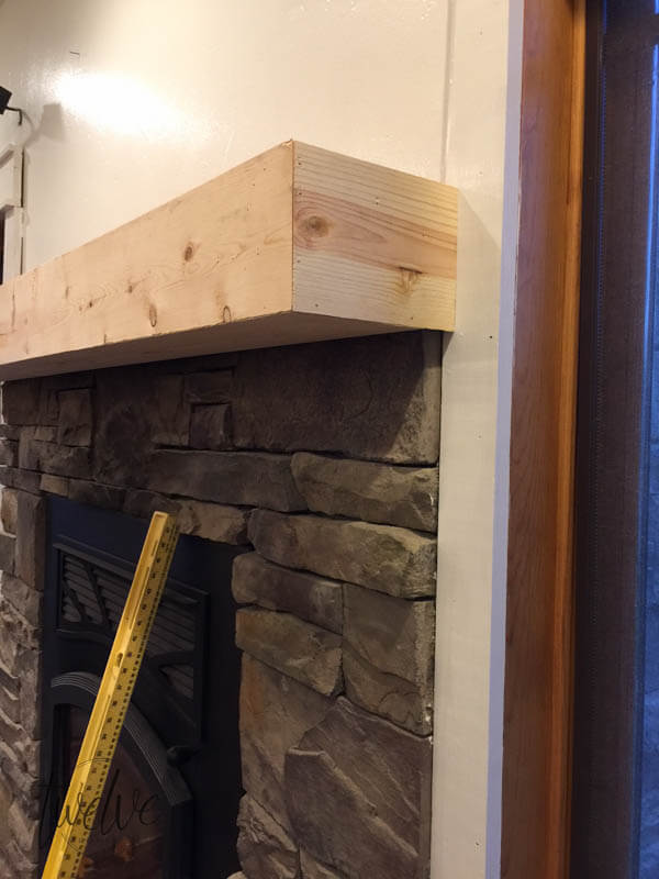 Stone Fireplace Surround Gets a Farmhouse Facelift ...