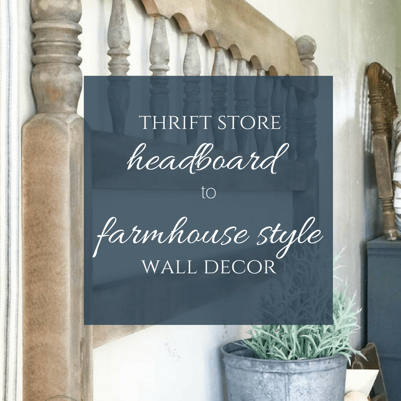 Don't pass up that headboard !at the thrift store Transform that thrift store headboard to farmhouse style wall decor! Such a cool idea!