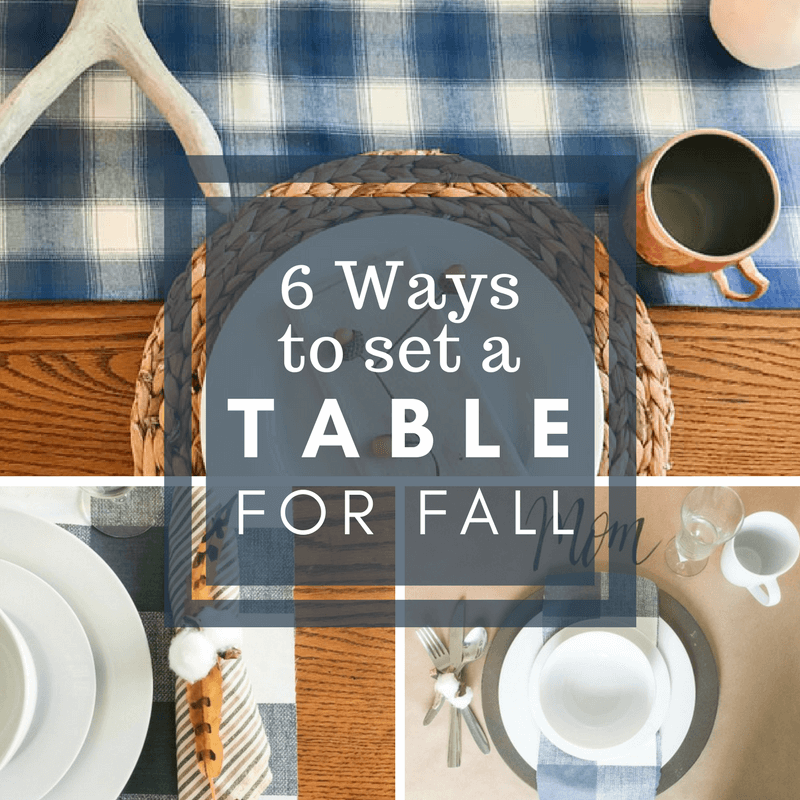 6 Ways to Set a Fall Table