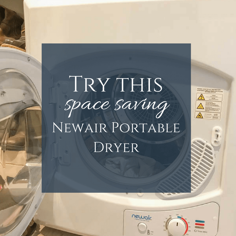 I have been trying this Newair Mini Dryer for the past few months and I am loving it!  Its a great space saving appliance and fits well in any small space!