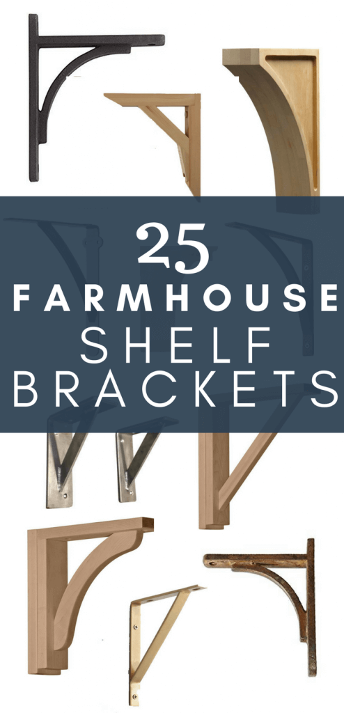 Love farmhouses style?  What about farmhouse shelves?  I have 25 of the coolest farmhouse shelf brackets I could find!  Are you a fan?  Perfect for open shelving in the kitchen or beautifully style shelves in the dining room.