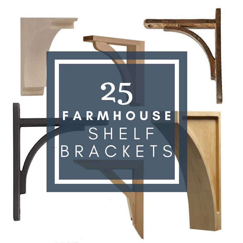25 FarmhouseStyle Rustic Shelf Brackets for Your Home