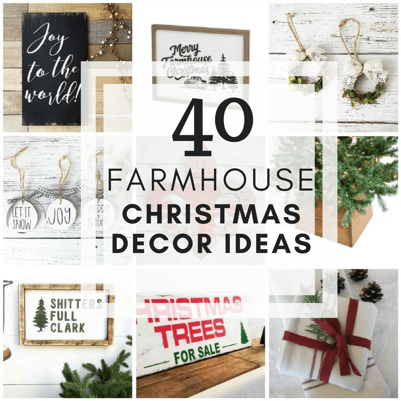 Create a winter wonderland with these 40 farmhouse Christmas decor ideas for your home! Keep it simple, cozy, and beautiful and enjoy the holidays in style!