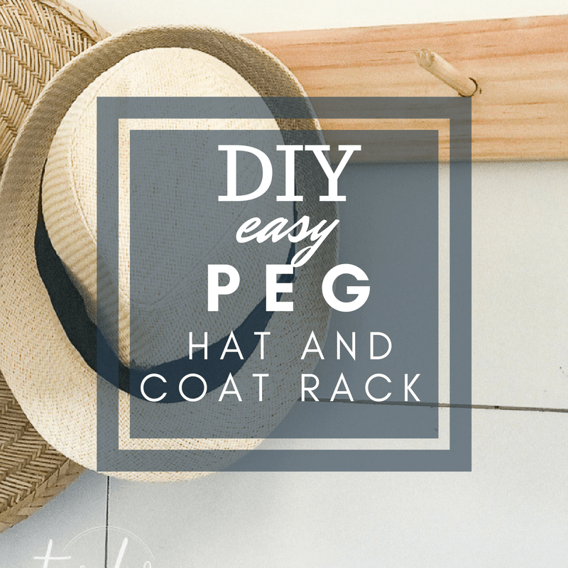 DIY Peg Coat and Hat Rack