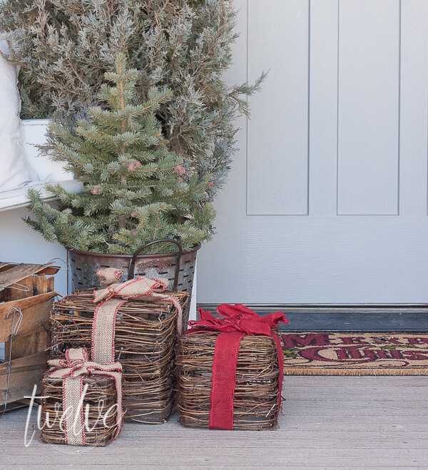 Check out this sneak peek of my woodland farmhouse Christmas porch that was created with the help of The Home Depot! I love their Christmas decor!