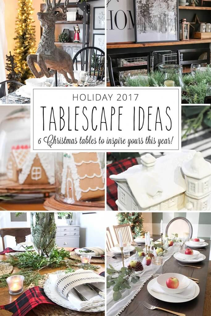 Christmas Table Scape Ideas.Red And White Farmhouse Christmas Tablescape Twelve On Main