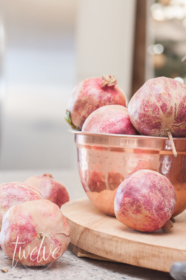 Pomegranates for Christmas decor?