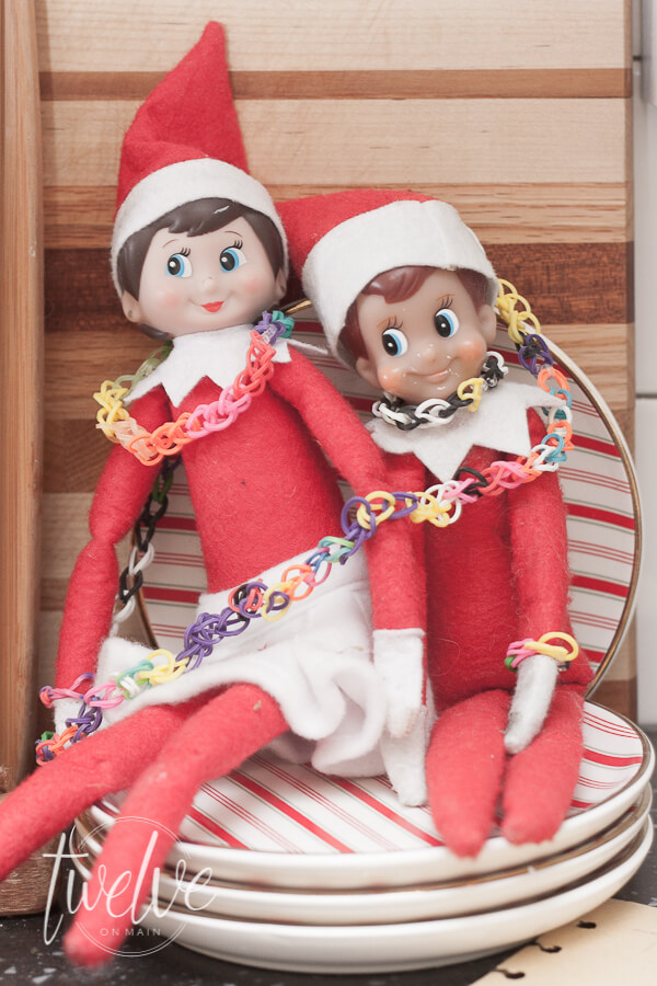Super cute elf on the shelf idea.