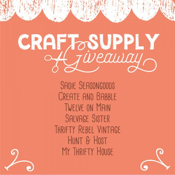 Craft Supply Giveaway | A Big Thank You - Twelve On Main