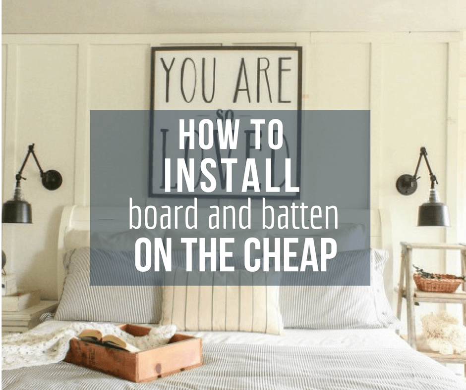 How to Install Board and Batten Wall Treatment on the Cheap