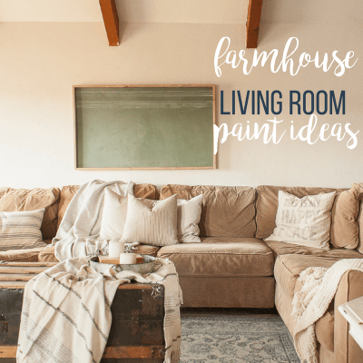 Farmhouse Living Room Refresh with Paint