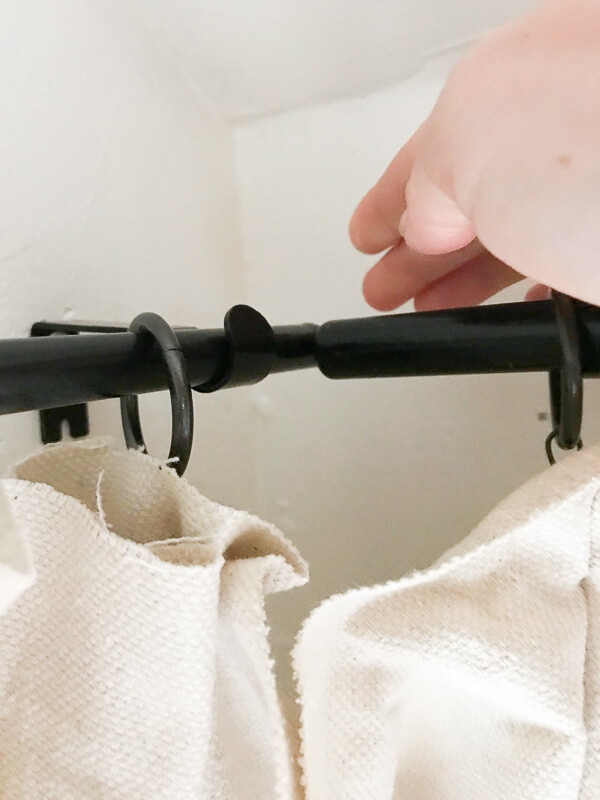 Create corner curtain rods with regular inexpensive curtain rods!