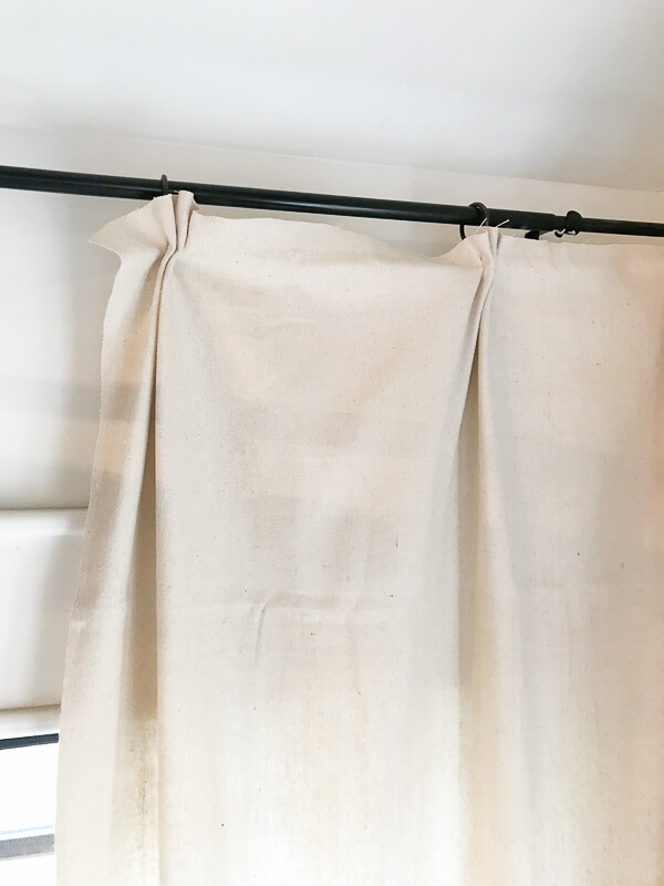 How to make your own no sew drop cloth curtains! So easy and so stylish!