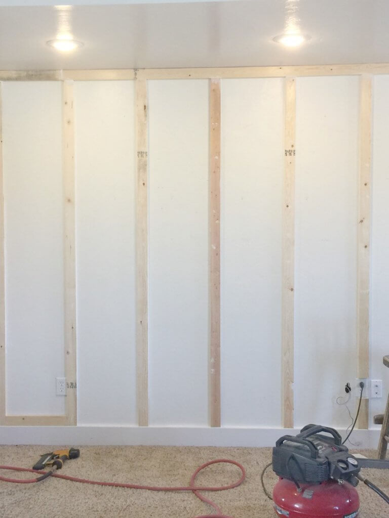 How to install board and batten walls on the cheap!