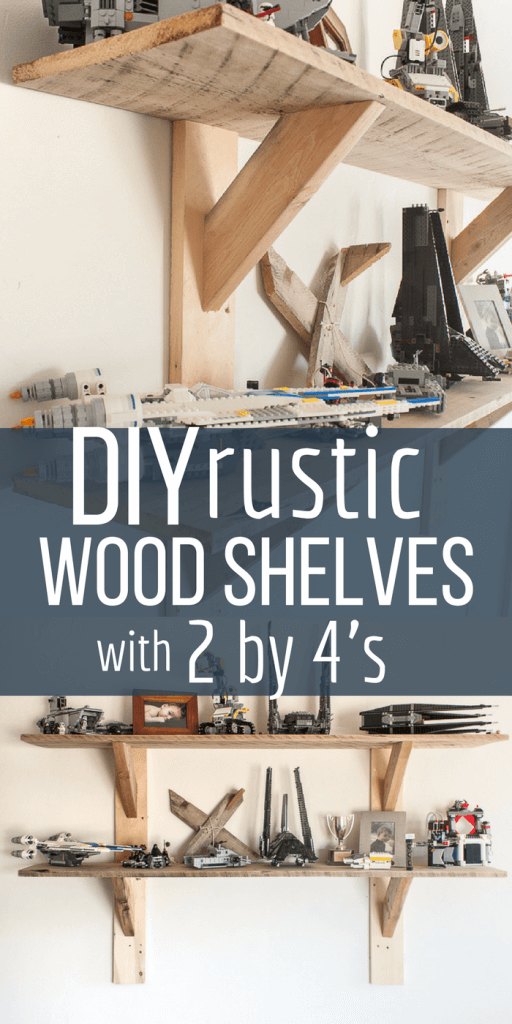 Make these stylish rustic shelves with 2 by 4's!  They are so awesome!  #TwelveOnMain #shelving