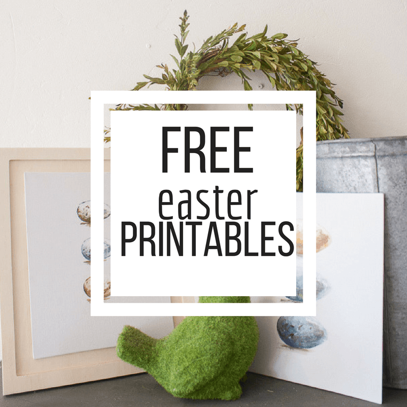 Add this sweet hand painted Easter printable to your homes Easter decor and enjoy the holiday with family and friends!