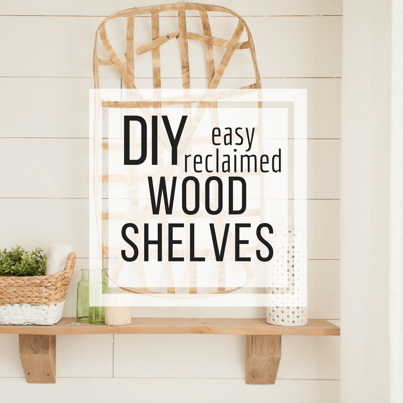 How to Make Easy Rustic Wood Shelves