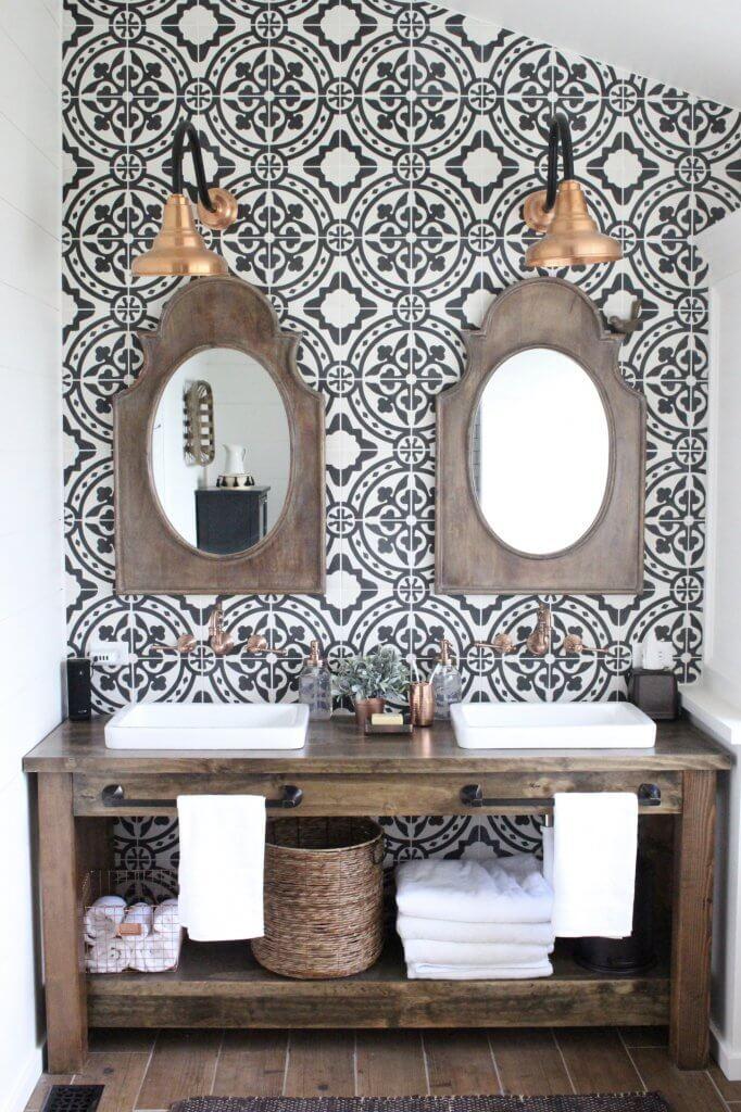 Over 50 of the Best Farmhouse Tile Backsplash Ideas ... on Farmhouse Bathroom Tile  id=89515