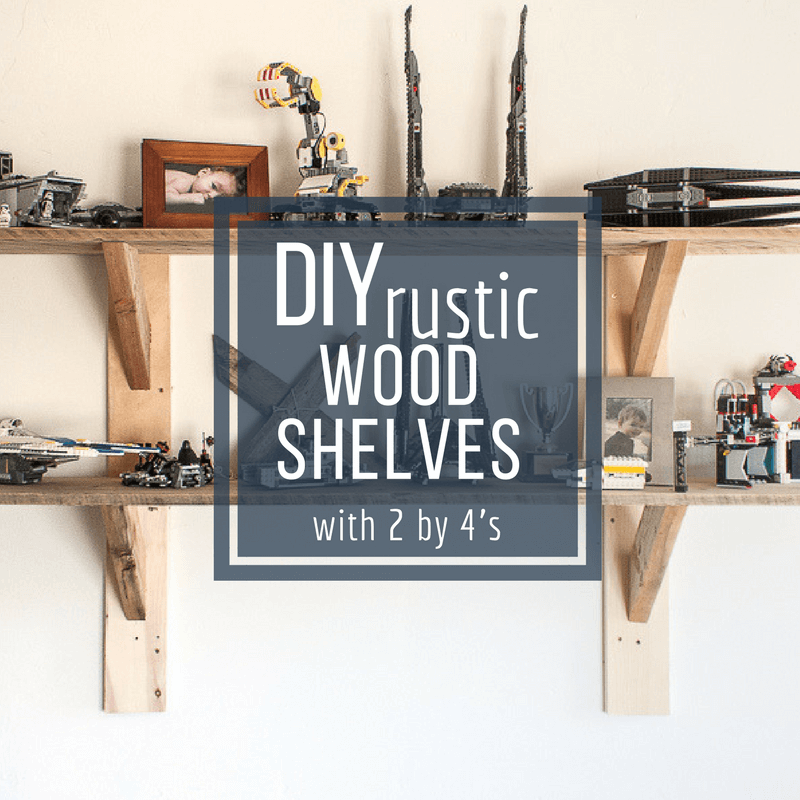 Want a unique set of shelves that don't break the bank? Create these simple and easy stylish rustic shelves with 2 by 4's and you will be laughing at how easy they can be!