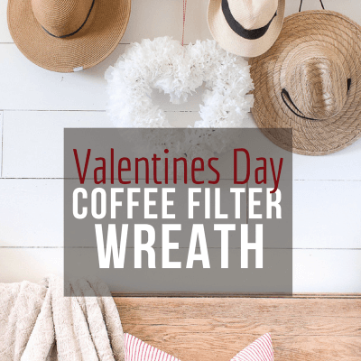 Make This Coffee Filter Wreath for Valentines Day