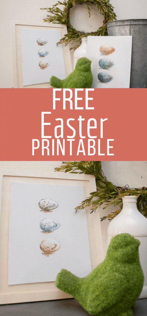 Add this sweet hand painted Easter printable to your homes Easter decor and enjoy the holiday with family and friends! #TwelveOnMain #easter #easterdecor #printables #easterprintables
