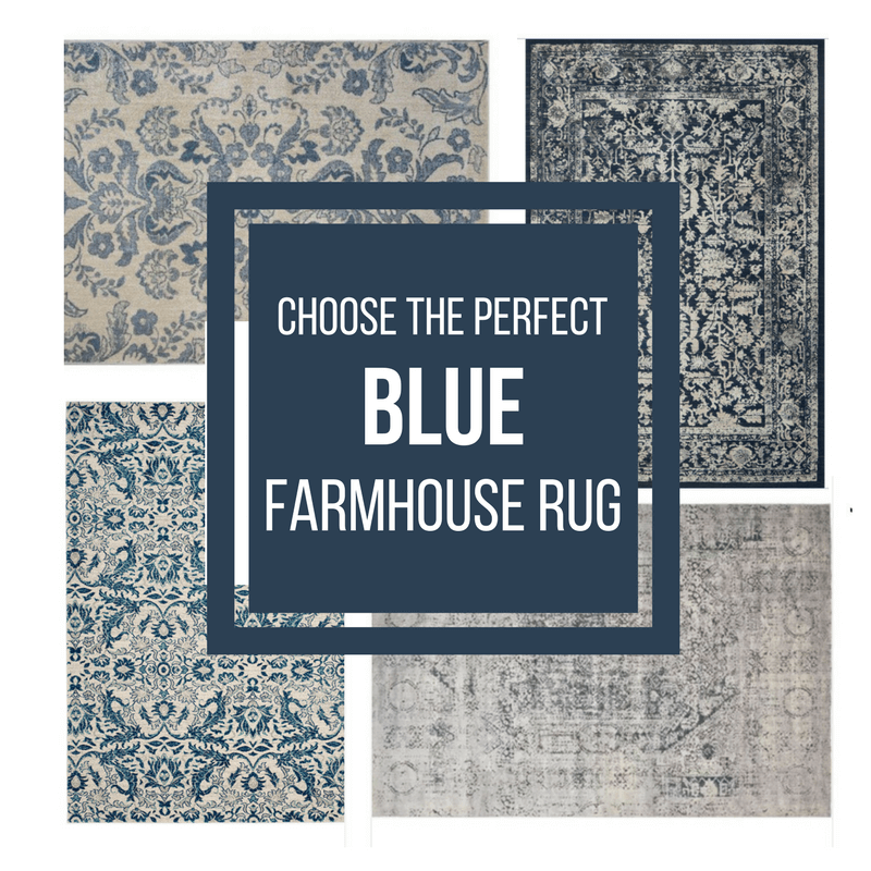 I've already done all the shopping for you!  This guide for blue farmhouse rugs will help you choose the perfect rug for your space!  Read on to find the exact farmhouse rug you are looking for.