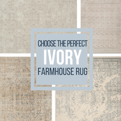 30 Stunning Ivory Farmhouse Area Rugs that will Give You House Envy