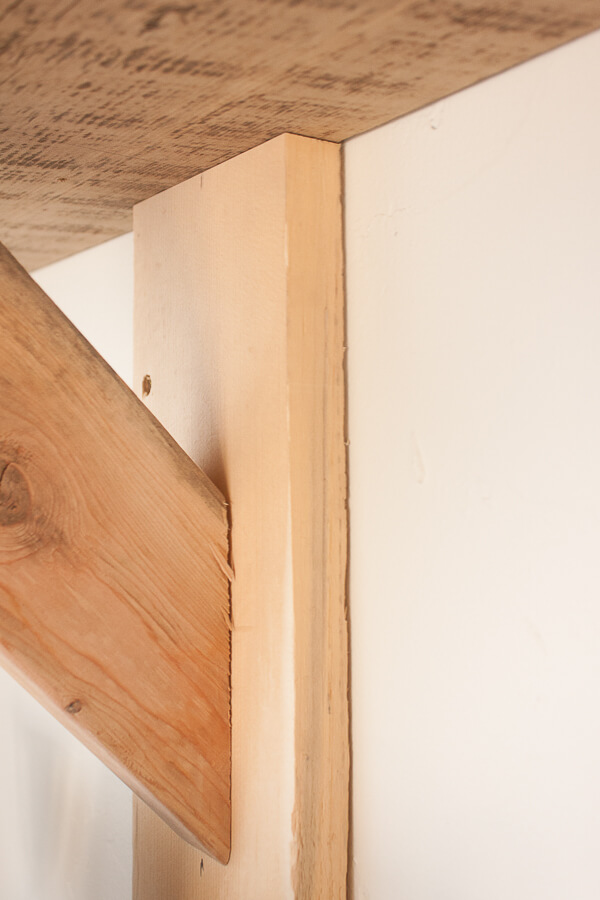 Super easy DIY rustic shelves using 2 by 4's!