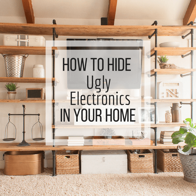 How to Hide Ugly Electronics in the Home