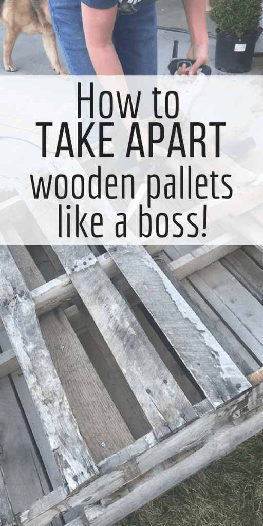 Have you wanted to use wooden pallets in a project but didn't know how to take one apart? Check out my favorite way here!