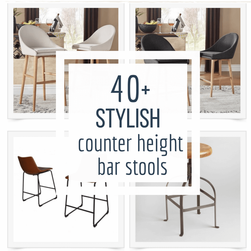 Over 40 of the most stylish counter height bar stools for the kiitchen!