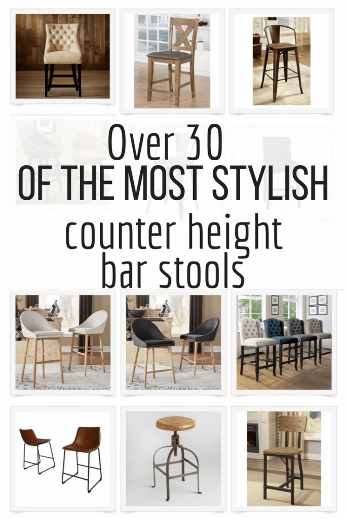Over 30 of the most stylish counter height bar stools I could find on the internet! Deck out your kitchen with new bar stools. They make such a huge difference!