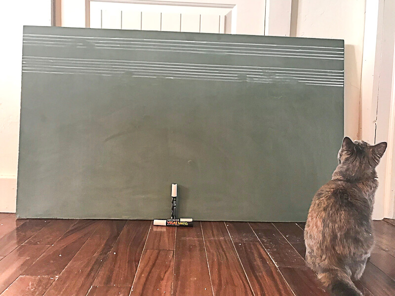 Vintage green chalkbard