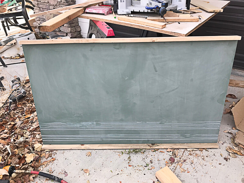 How to frame a vintage green chalkboard