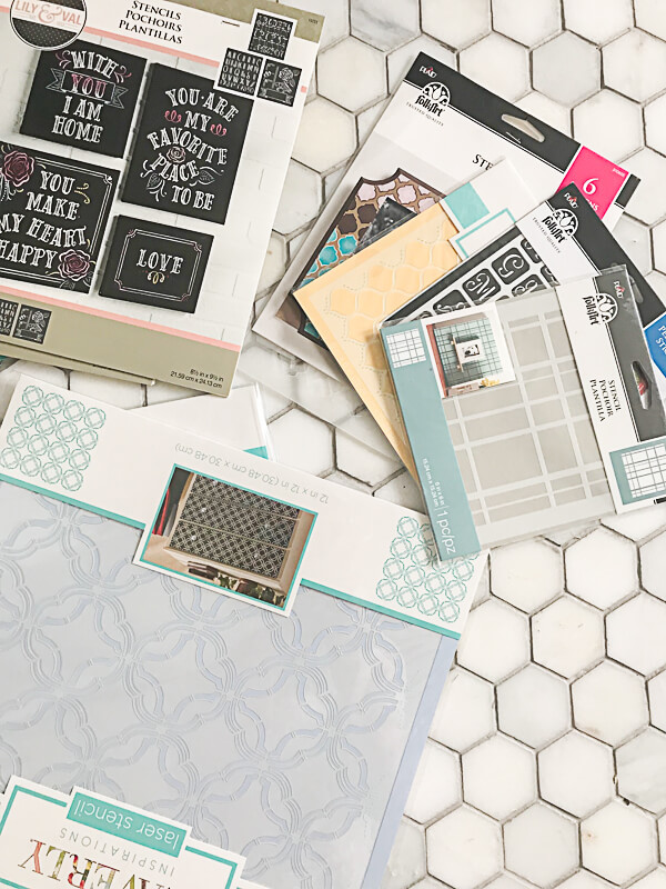 12 stencil packs available in this craft supply giveaway!