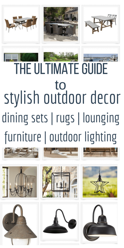 Create the perfect outdoor space with this comprehensive outdoor decor guide! Enjoy your summer with a new outdoor space!