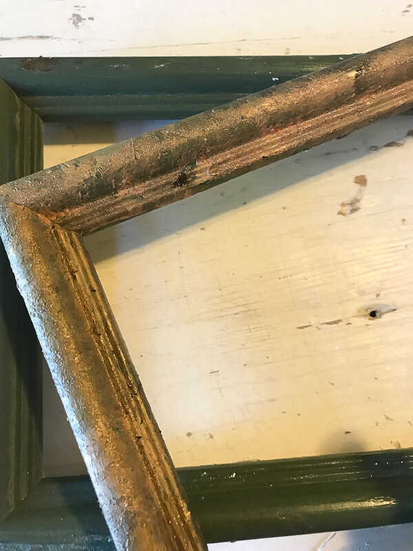 Aged vintage mirror for less!
