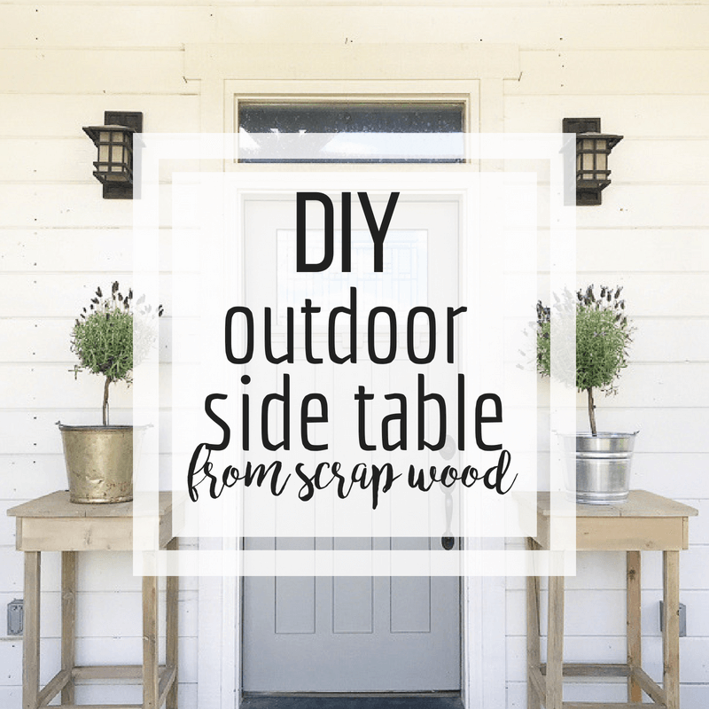 Make your own outdoor side table with scrap wood! So easy to make with full tutorial!