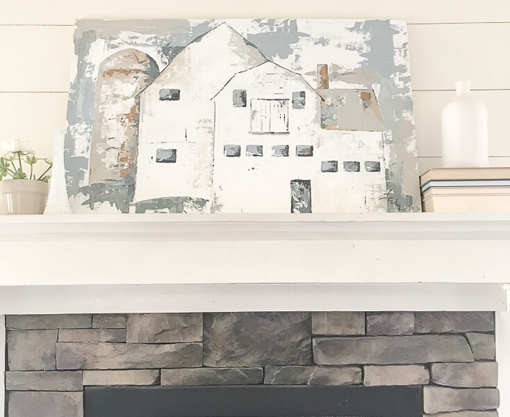 Park City barn painting for sale by Sara Syrett of Twelve On Main