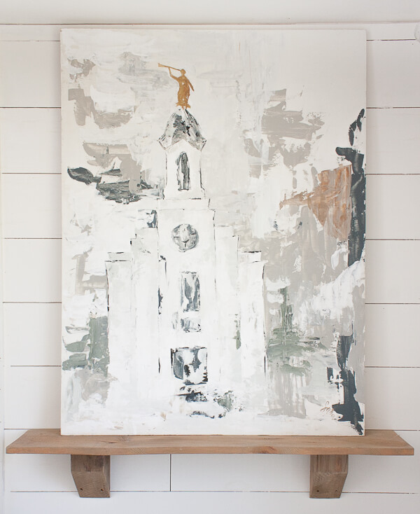 LDS temple artwork for sale by Sara Syrett of Twelve On Main