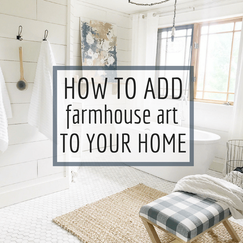 Add farmhouse artwork into your home with these simple tips and this awesome source!