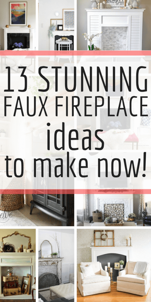 Check out these 13 stunning DIY faux fireplace ideas and make one for your home now!!