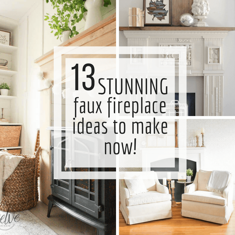 13 stunning diy fake fireplace ideas to make now twelve on main rh twelveonmain com buy fake fireplace