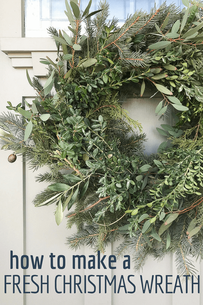 Use discarded branches to make your own fresh Christmas wreath this year and save oodles of money decorating your home!  It could not be easier!