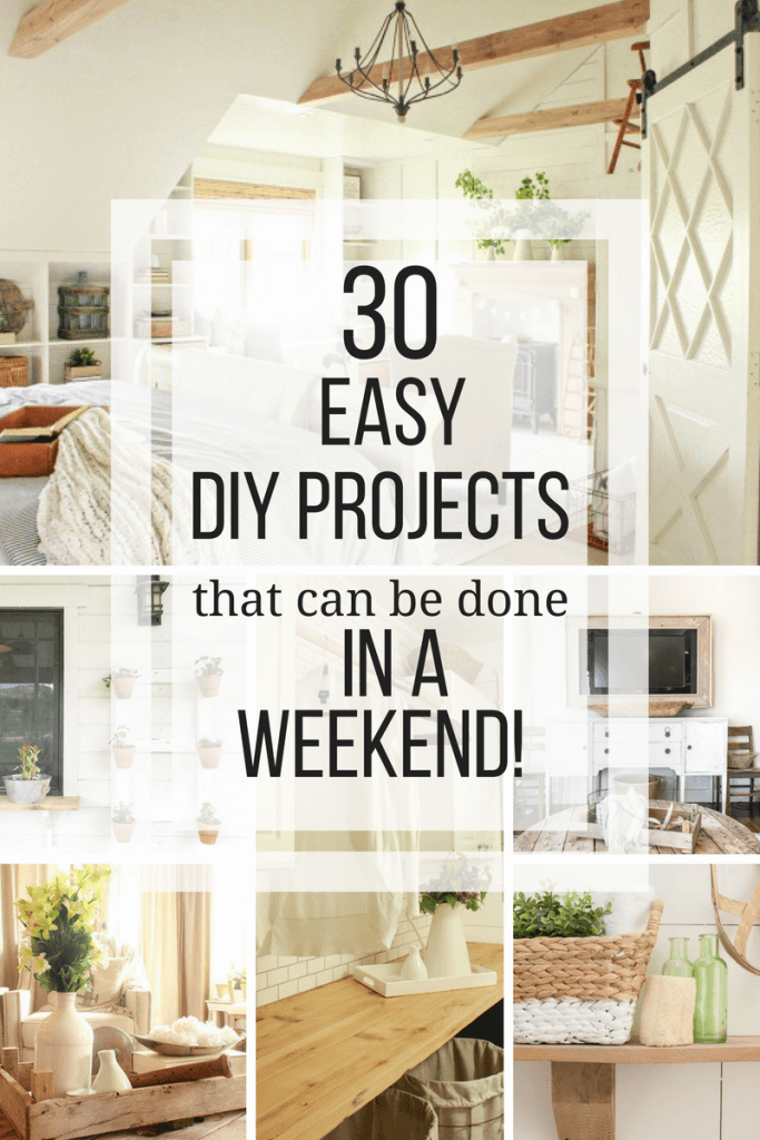 Over 30 easy simple wood projects that can be done in a weekend! Most of them can be done in less than a day! And did I mention they are all inexpensive too! #TwelveOnMain #simplewoodprojects