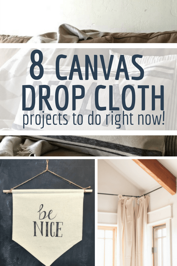 8 insanely easy painters canvas drop cloths that you should be doing right now!  Check them out here!! #TwelveOnMain #homedecor #dropcloth #diy #diyprojects